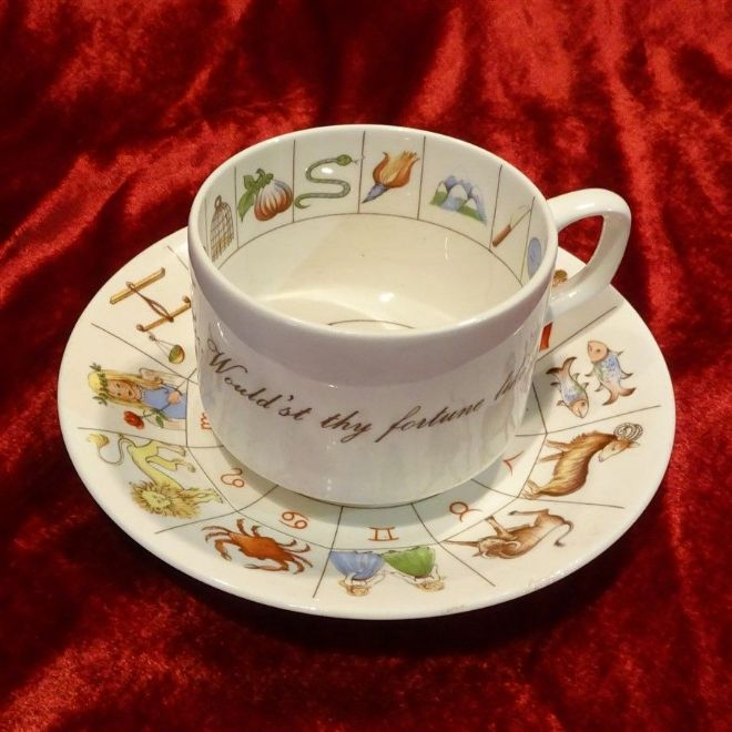 Fortune Telling Cup and Saucer Tasseography with Instructions